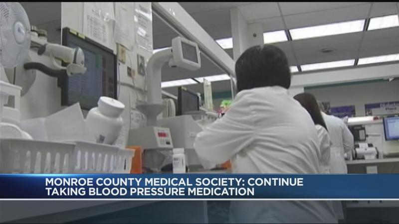 Monroe County Medical Society: Continue taking blood pressure medicine