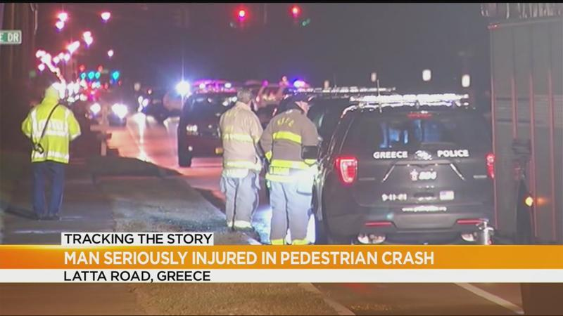 Greece police identify pedestrian seriously injured in Latta Road crash