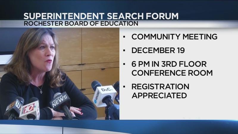 Rochester Board of Education to hold public forum in search for superintendent