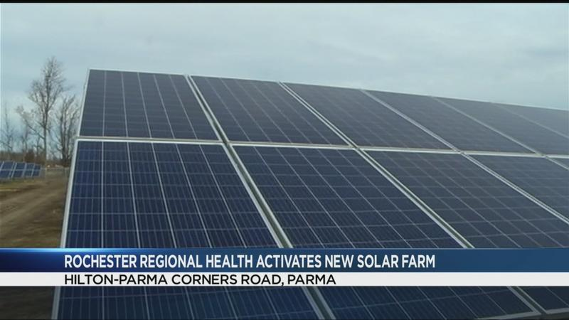 Rochester Regional Health activates second largest solar farm in NYS
