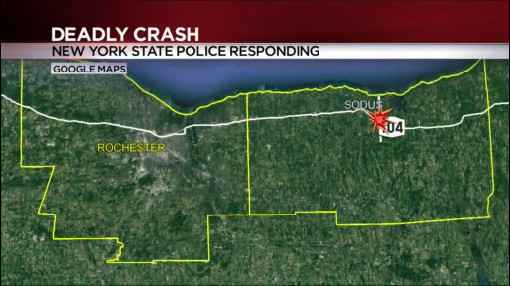 1 killed after minivan, box truck collide in Sodus