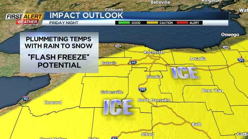Yellow Alert goes into effect for potential flash freeze