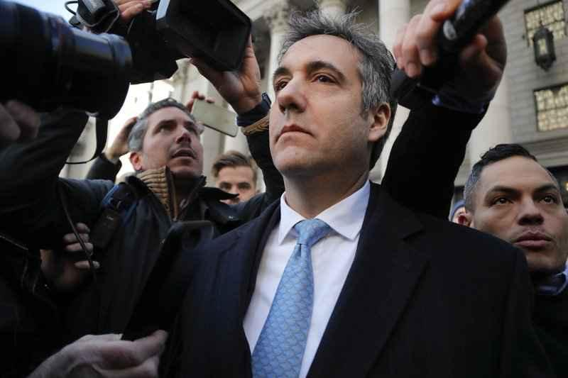 Michael Cohen walks out of federal court, Thursday, Nov. 29, 2018, in New York. Cohen, President Donald Trump's former lawyer, pleaded guilty to lying to Congress about work he did on an aborted project to build a Trump Tower in Russia. He told the judge he lied about the timing of the negotiations and other details to be consistent with Trump's