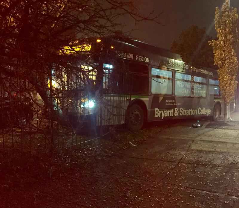 RTS Bus Crashes Into Fence With Passengers On Board