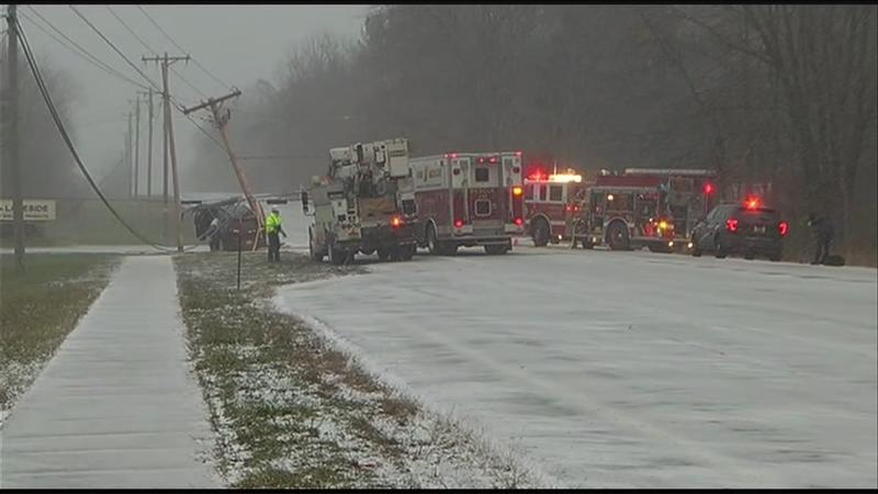 Brockport crash leads to power outages