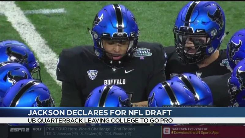 Buffalo QB Jackson declares himself eligible for NFL draft