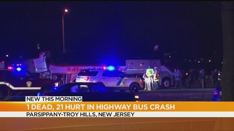 Deadly crash involving a tour bus on NJ highway