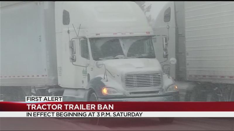 Governor Cuomo: Tractor trailers, buses banned from Thruway, interstate highways during winter storm