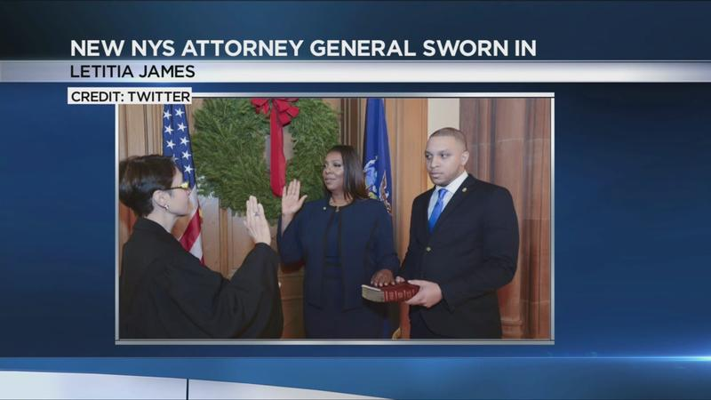 Letitia James sworn in as NY attorney general