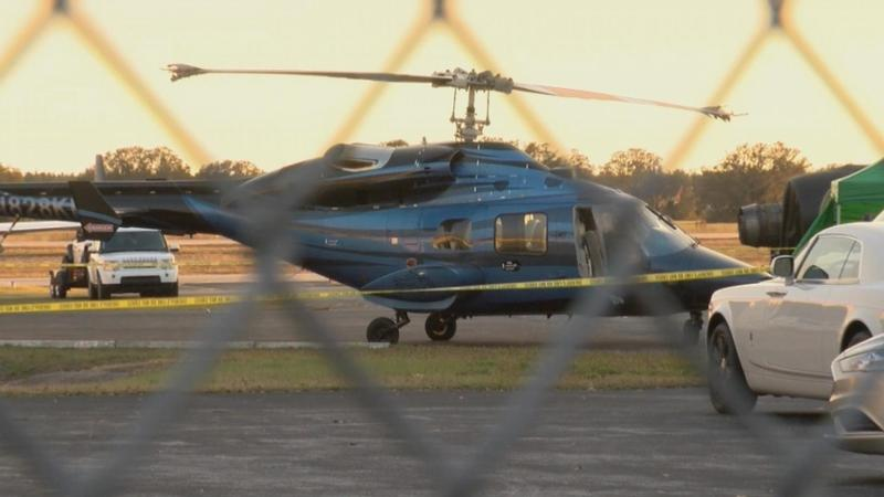 Man working on helicopter hit by main rotor blades, killed