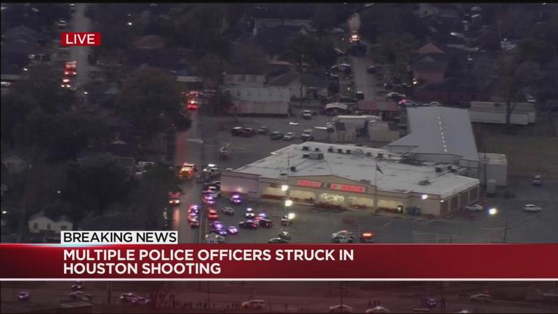 Multiple officers shot in Houston