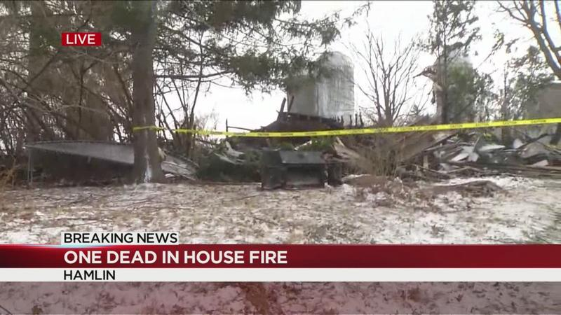 One dead in Hamlin house fire
