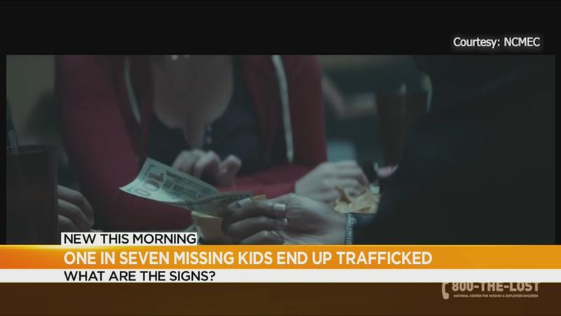 One in every seven missing kids are trafficked