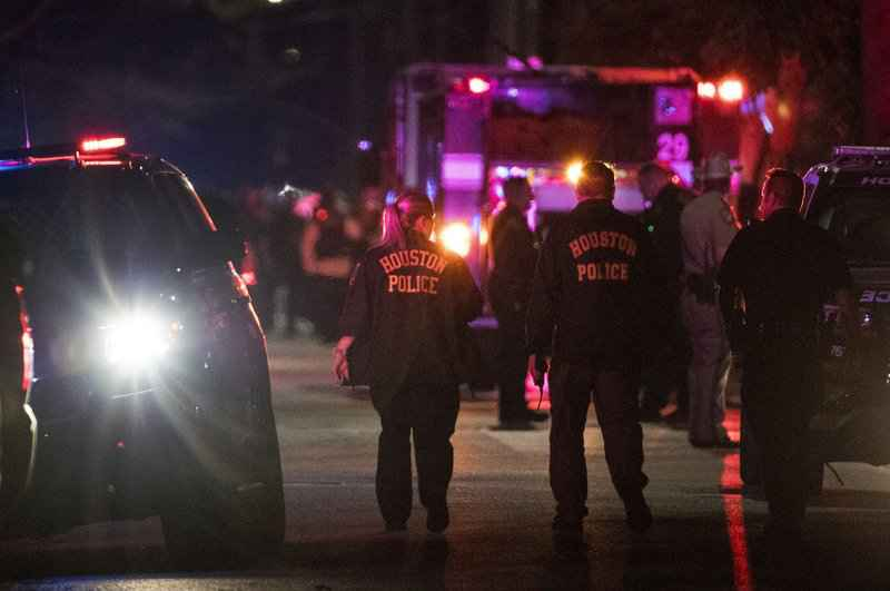 Multiple Houston police officers are shot during an 'encounter' with a suspect