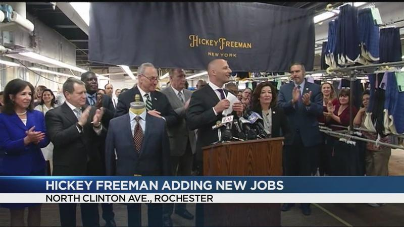 Hickey Freeman expanding, adding new jobs in Rochester