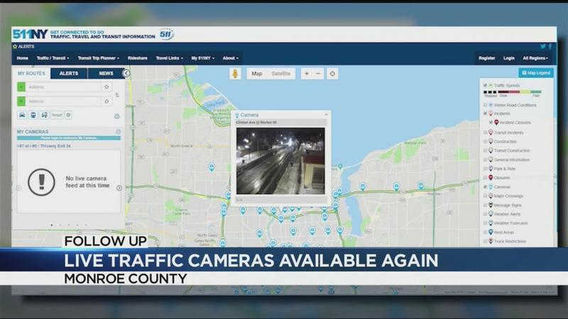 Live traffic cameras up and running throughout Monroe County
