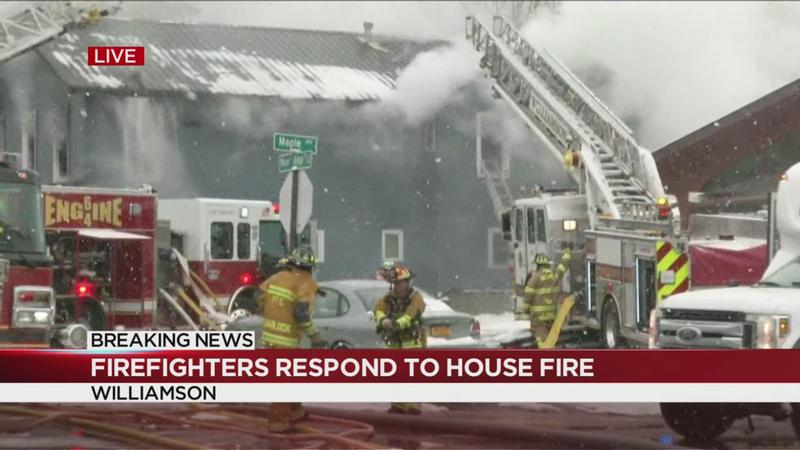 Multiple crews respond to house fire in Williamson