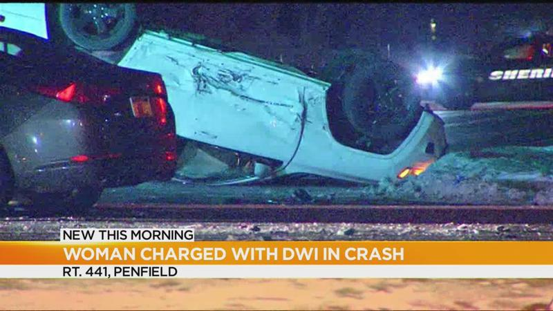 Woman charged with DWI after Penfield crash