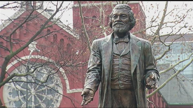Rochester's Roots: Life-sized statues pay homage to Frederick Douglass