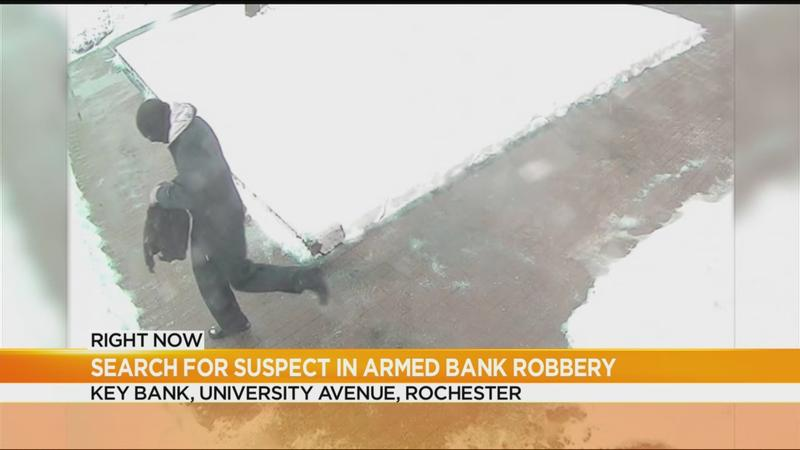 Rochester Police search for suspect in University Avenue bank robbery
