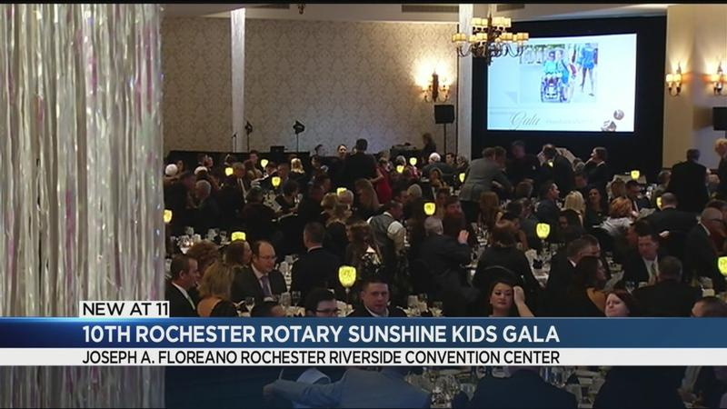 Rochester rolls out the style at the Sunshine Kids Gala