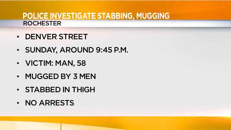 Police investigate mugging, stabbing on Denver Street