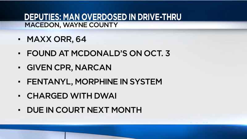 Man arrested after overdosing in McDonald's drive-thru