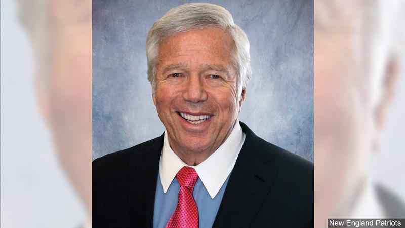 New England Patriots owner Robert Kraft charged with soliciting a prostitute