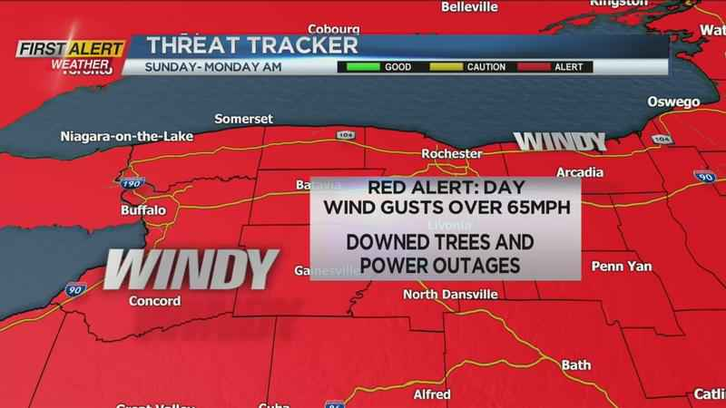 Wind gusts over 60 mph expected Sunday into Monday