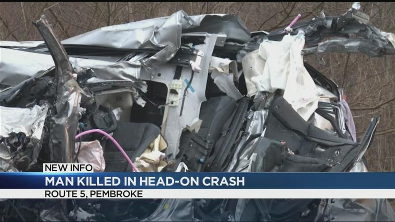 1 killed in head-on crash in Pembroke