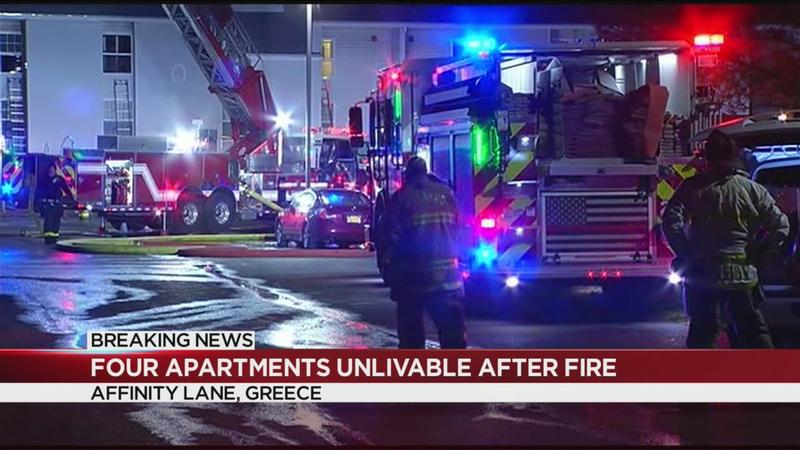 Multiple apartments considered unlivable after Greece fire