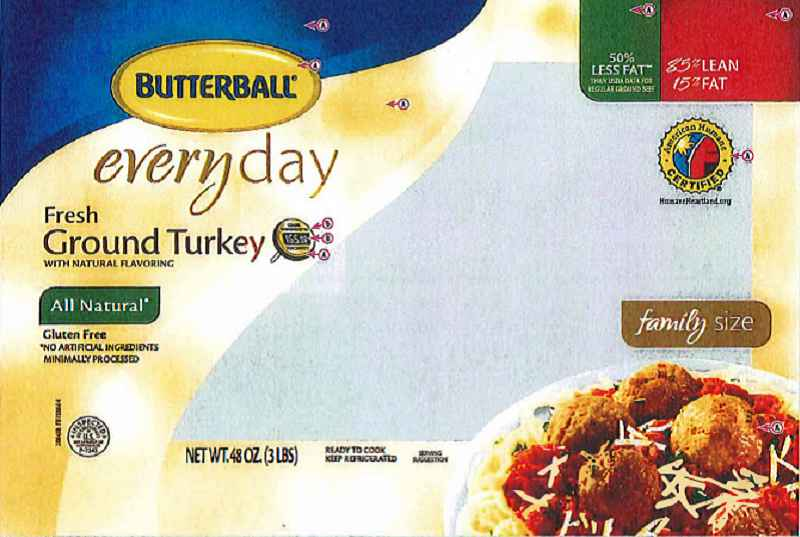Butterball is recalling nearly 80,000 pounds of raw ground turkey products that may be contaminated with a certain strain of Salmonella.