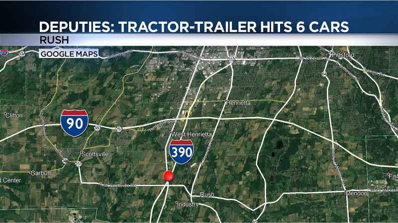 Deputies: Tractor-trailer hit 6 vehicles before taking off on I-390
