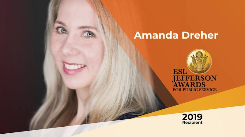 2019 ESL Jefferson Award recipient: Amanda Dreher