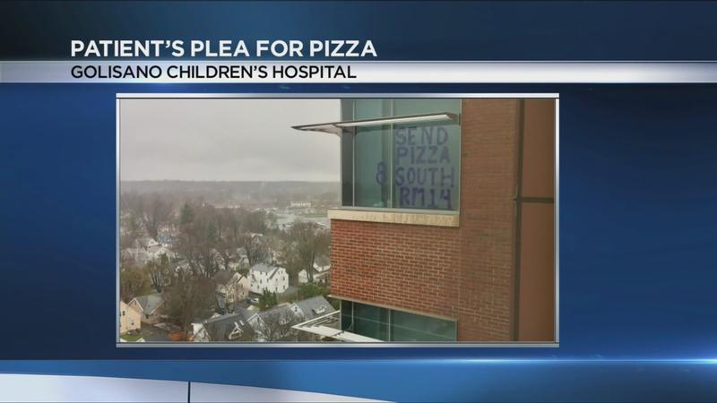 'Send pizza': Golisano Children's Hospital patient pleas for favorite food