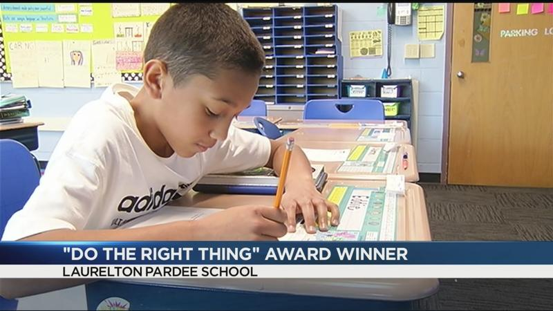 Do the Right Thing: 5th grader's courage and honesty helps protect others from harm