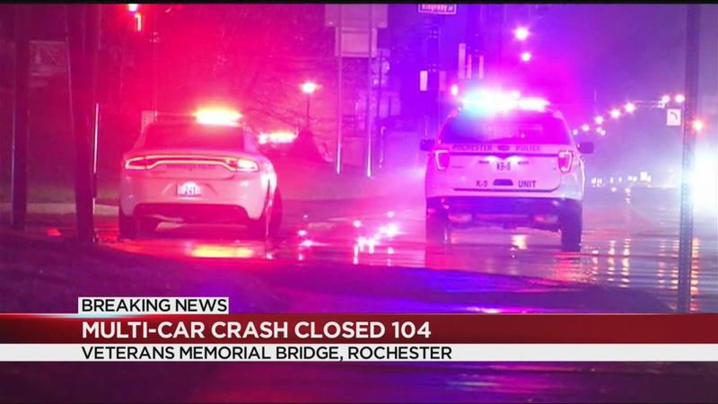 Police investigate multi-car crash on Rt. 104