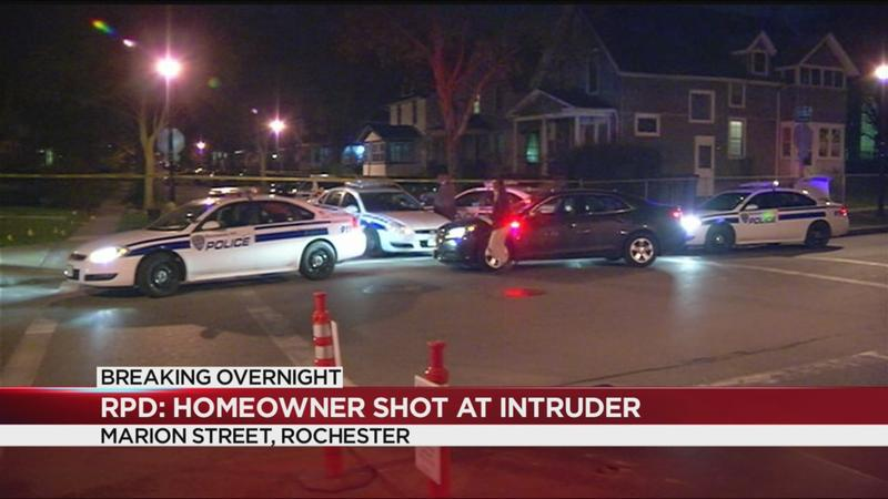Rochester police: Homeowner shoots at intruder