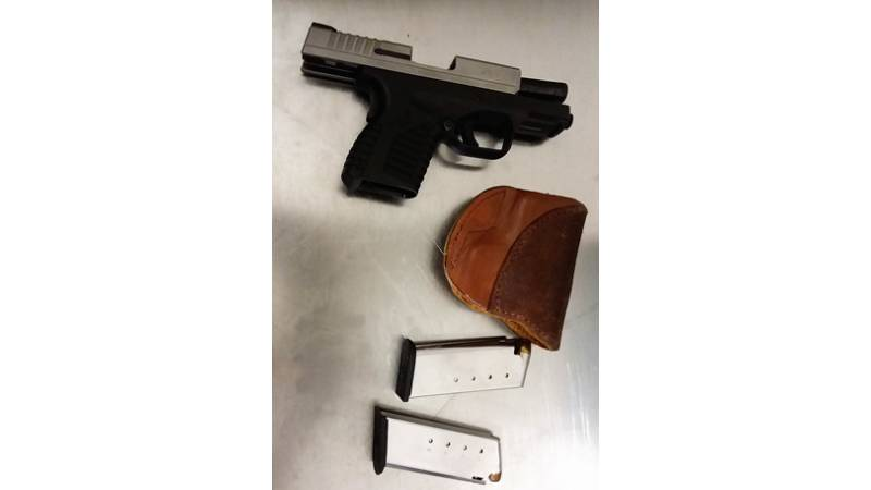 TSA officers caught this loaded handgun at ROC airport checkpoint on April 16.