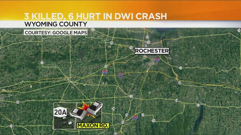 3 dead, 6 injured in Wyoming County crash