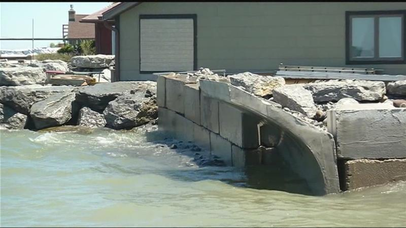 A different type of barrier: Combating rising flood waters along Lake Ontario