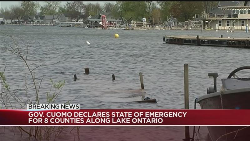 Cuomo declares state of emergency for 8 counties along Lake Ontario