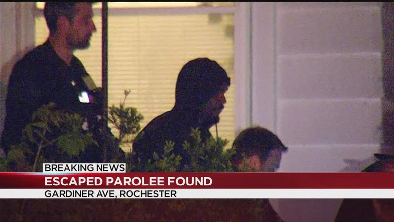 Escaped parolee found in Rochester