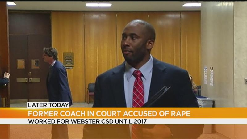 Former Webster coach charged with rape due in court Monday