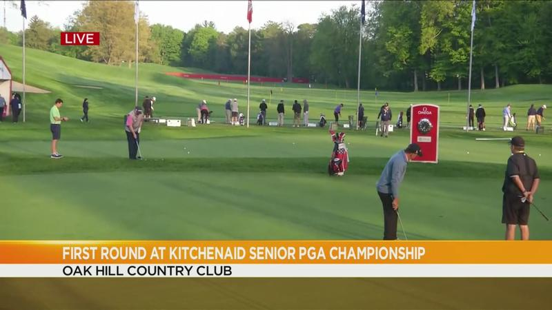 Golfers tee off for round 1 of Senior PGA Championship