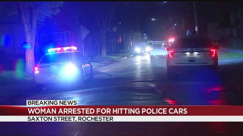 RPD: Woman hits 2 police cars after fleeing traffic stop