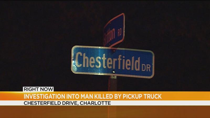 Man dies after truck falls on him in Charlotte