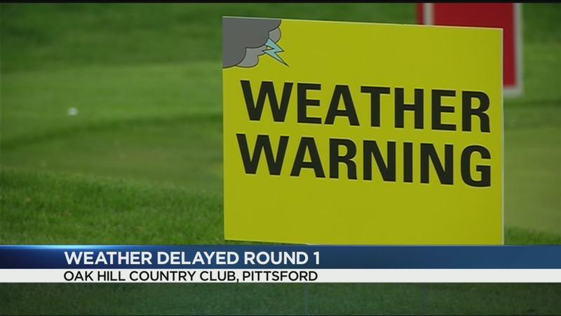 Weather impacting play at Senior PGA Championship