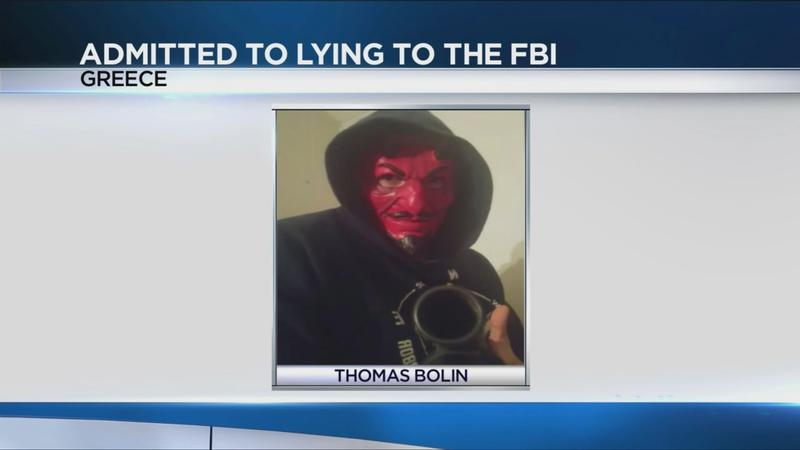 Greece man pleads guilty to lying to FBI