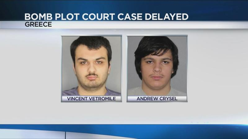Bomb plot suspects' hearing postponed; weapons charges dropped for defendant